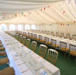 Firle Estate | Marquee in Park